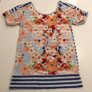 Matilda Jane Floral and stripe top